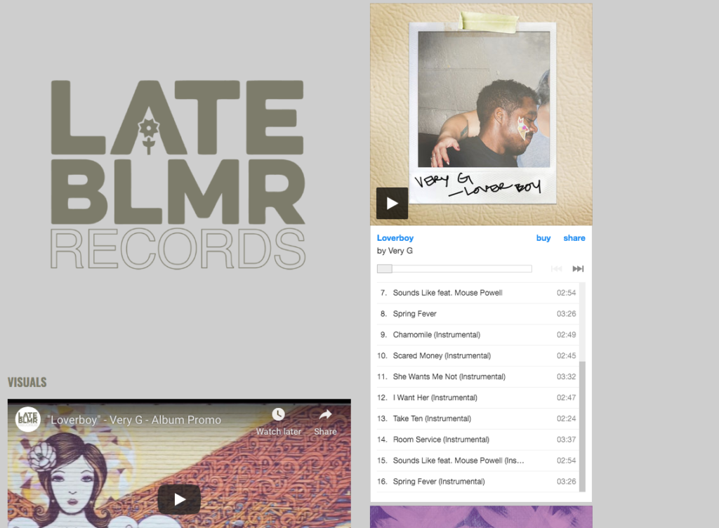LATE BLMR Records